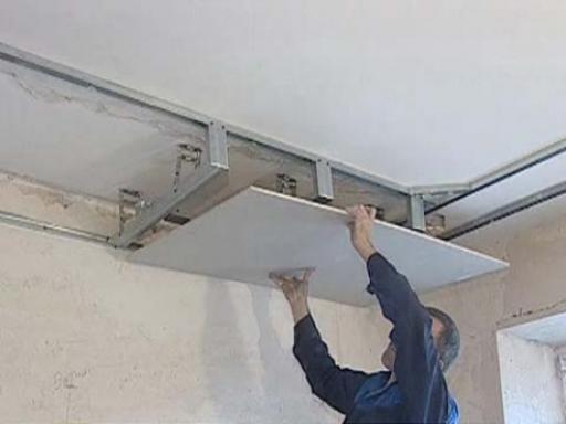 Монтаж потолков из гипсокартона своими руками фото
